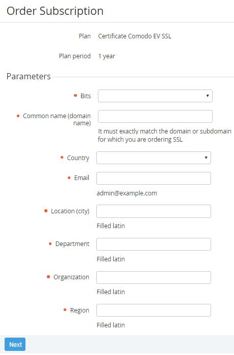 Ordering A Ssl Certificate Subscription Activeplatform Operator